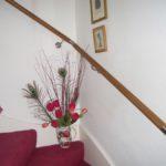 поручень деревянный со вставками из нержавейки