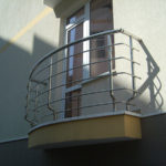 Перила на балкон из нержавейки