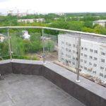 перила на балкон со стеклом 5