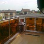 перила на балкон со стеклом