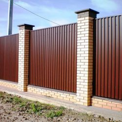 1. Забор из профнастила